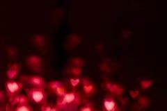 与红色心脏的抽象情人节背景 五颜六色如此 库存图片