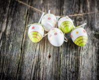 复活节装饰鸡蛋 库存图片