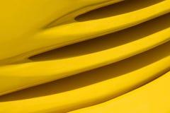 汽车排行黄色 免版税库存照片