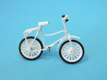 白色自行车 玩具 库存照片