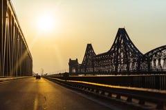 桥梁大金属结构 免版税库存照片