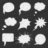 Διανυσματικό σύνολο λεκτικών φυσαλίδων πινάκων κιμωλίας - απεικόνιση Στοκ φωτογραφίες με δικαίωμα ελεύθερης χρήσης