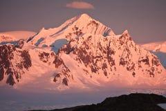 南极洲加盖了山雪 库存照片