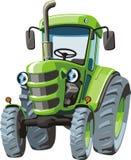 Зеленый трактор шаржа Стоковое Изображение