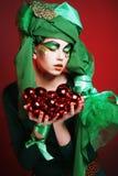 Красивейшая повелительница с художническим составом Стоковые Фотографии RF
