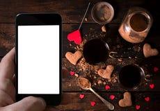 Горячие какао и печенья Стоковые Изображения