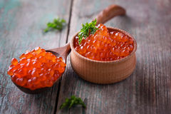 红色鱼子酱 免版税库存图片
