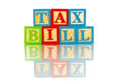 Φορολογικό νομοσχέδιο Στοκ Φωτογραφία