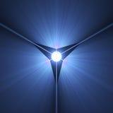 Предпосылка лезвия тайны высокотехнологичная светлая Стоковая Фотография