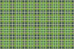 绿色和蓝色格子花呢披肩 免版税库存图片