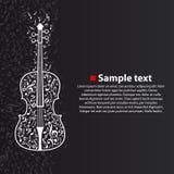 Διανυσματικό βιολί με τις σημειώσεις Στοκ Εικόνα