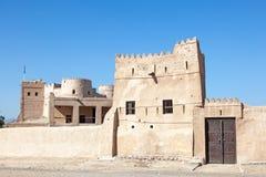 遗产村庄在富查伊拉,阿拉伯联合酋长国 库存照片
