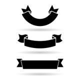 вектор установленный знаменами Стоковое Изображение RF