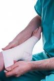 被扭伤的脚 免版税图库摄影