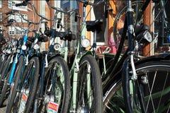 自行车商店在哥本哈根 库存图片