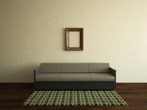 有沙发的内部室 图库摄影