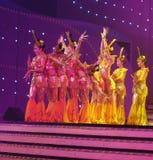 китайцы актеров танцуют глухое Стоковое Изображение