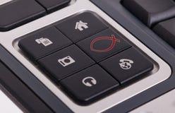 在键盘的按钮-基督徒 库存图片