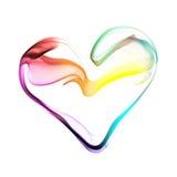 五颜六色的心脏由烟制成 免版税库存照片
