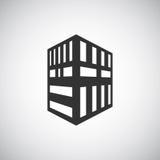 Αφηρημένο πρότυπο σχεδίου λογότυπων σκιαγραφιών κτηρίου αρχιτεκτονικής Εικονίδιο επιχειρησιακού θέματος ακίνητων περιουσιών ουραν Στοκ Φωτογραφίες