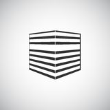 Αφηρημένο πρότυπο σχεδίου λογότυπων σκιαγραφιών κτηρίου αρχιτεκτονικής Εικονίδιο επιχειρησιακού θέματος ακίνητων περιουσιών ουραν Στοκ φωτογραφίες με δικαίωμα ελεύθερης χρήσης