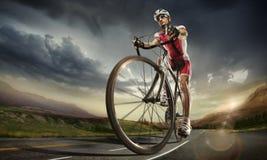 体育运动 骑自行车者 图库摄影