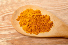 新鲜的姜黄粉末 库存照片