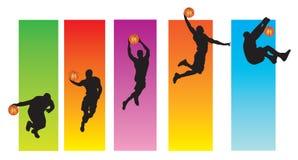篮球顺序 图库摄影
