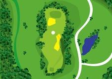 γκολφ σειράς μαθημάτων Στοκ Εικόνες