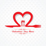 Σχέδιο καρτών επιλογών εστιατορίων ημέρας βαλεντίνων Στοκ Εικόνα