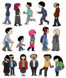 Значки ближневосточных людей Стоковые Изображения