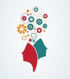 创造性的头脑 免版税库存图片