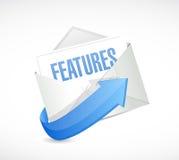 дизайн иллюстрации электронной почты характеристик Стоковая Фотография RF
