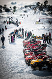 滑雪学校 库存照片