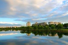 Вечер лета в рекреационной зоне Стоковая Фотография RF