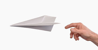 纸飞机 免版税库存图片