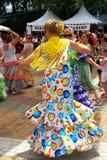 西班牙佛拉明柯舞曲舞蹈家,马尔韦利亚 免版税图库摄影