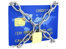 被锁定的信用卡 库存照片