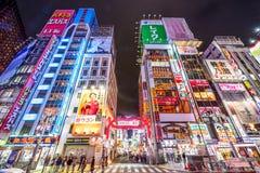 东京夜生活区 免版税图库摄影