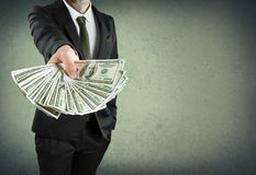 Τραπεζικό δάνειο, ή έννοια μετρητών Στοκ Εικόνα