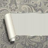 Сорванное бумажное с винтажным орнаментом Стоковые Фото