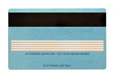 αφηρημένη μπλε πιστωτική φωτογραφία καρτών Στοκ εικόνα με δικαίωμα ελεύθερης χρήσης