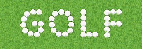 знак гольфа шарика Стоковая Фотография