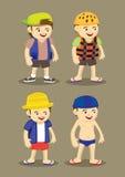 人的夏天室外冒险活动的时尚成套装备 免版税库存照片