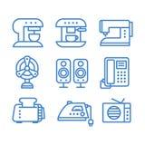 οικιακά εικονίδια συσκευών που τίθενται Στοκ εικόνες με δικαίωμα ελεύθερης χρήσης