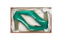 配件箱脚跟高鞋子 免版税库存图片