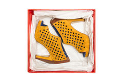 配件箱脚跟高鞋子 库存图片