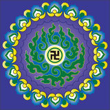 Κινεζικά σχέδιο και τοτέμ βουδισμού Στοκ εικόνα με δικαίωμα ελεύθερης χρήσης