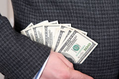 Χρήματα σε μια τσέπη Στοκ Φωτογραφίες