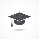 背景盖帽毕业查出的白色 免版税图库摄影